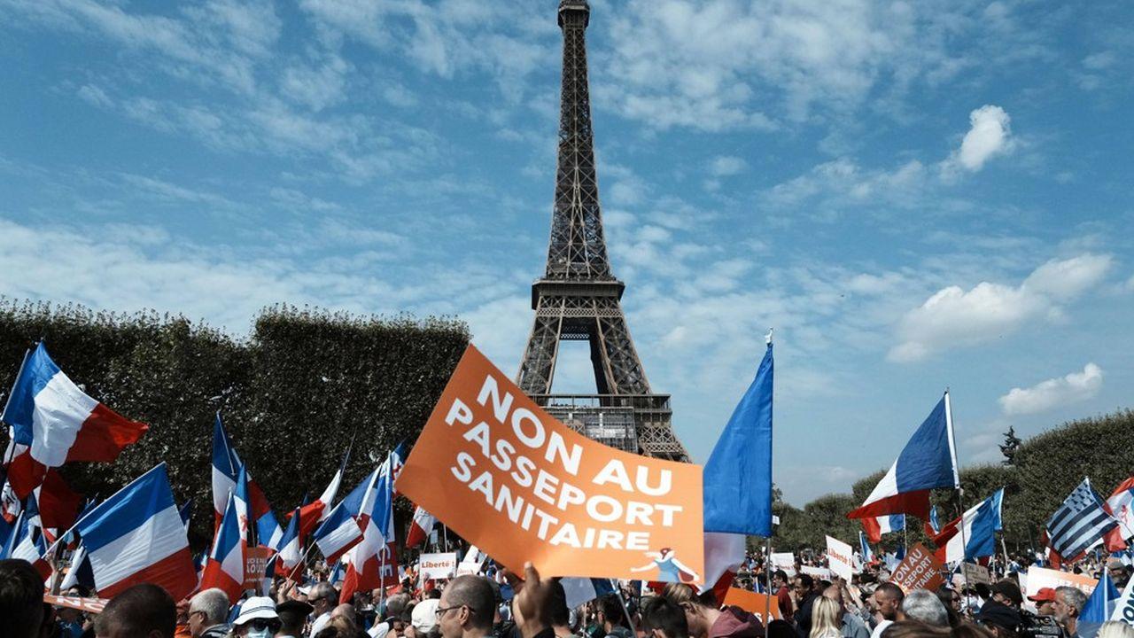 A Paris, où cinq rassemblements étaient programmés, des milliers de manifestants ont défilé à l'appel du mouvement des Patriotes de Florian Philippot.