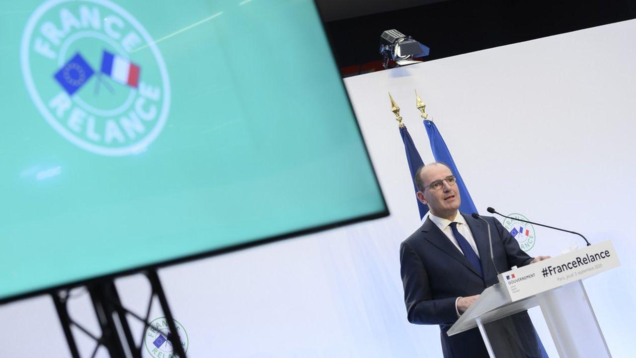 Le Premier ministre Jean Castex lors de la présentation du plan de relance il y a un an.