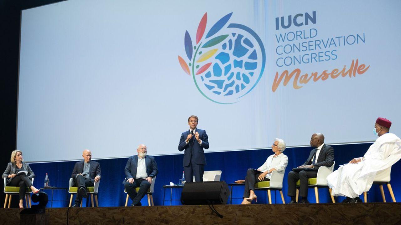 Ouverture du congrès mondial de la nature 2020, à Marseille.
