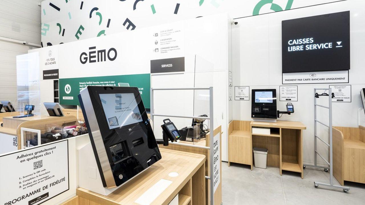 L'enseigne mise surla transition numérique de ses magasins avec du wifi ou des caisses en libre-service.