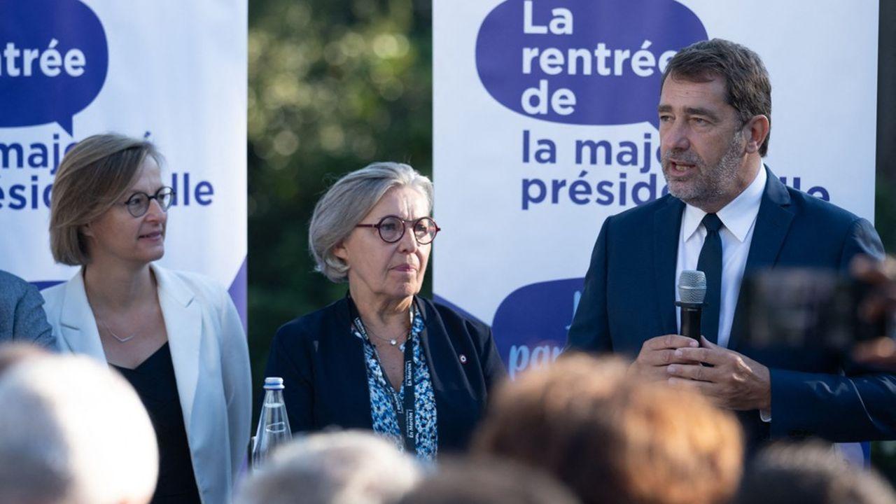 Le président du groupe LREM à l'Assemblée Christophe Castaner à Angers ce lundi. Sur les retraites, il veut «apaiser» le climat.