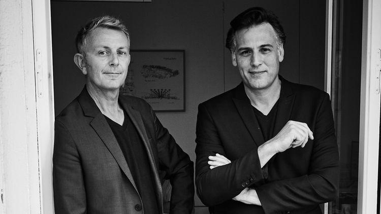 Guillaume Sibaud et Olivier Raffaelli, architectes et parmi les créateurs de l'agence Triptyque Architecture.