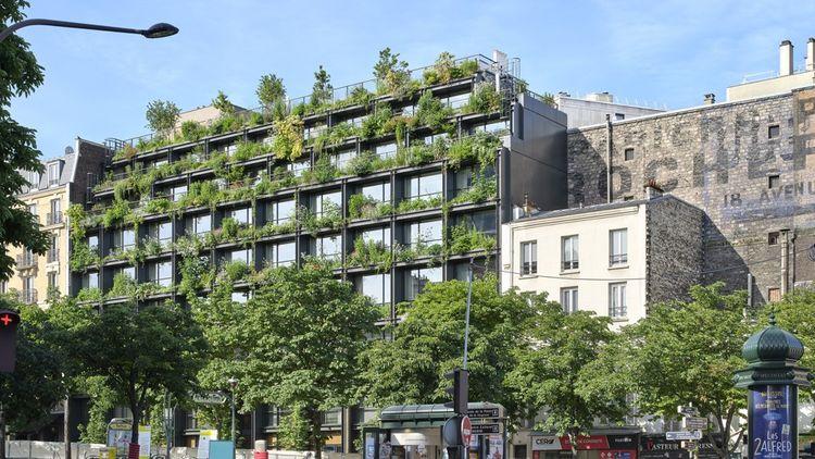 Lieu hybride destiné à la santé, la Villa M, livrée en mars dernier à Paris pour le Groupe Pasteur Mutualité, se pare d'une végétation luxuriante en façade et d'un verger sur le toit.