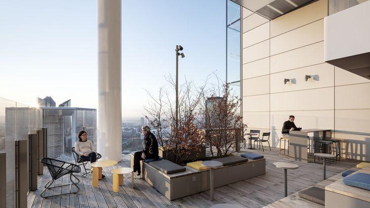 En créant son propre foncier au-dessus des infrastructures, la tour Trinity concourt à la lutte contre l'étalement urbain et fait aujourd'hui le lien entre deux quartiers.