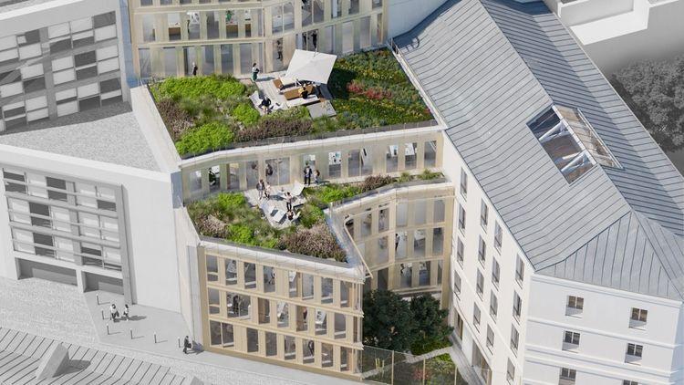 L'agence franco-allemande Axel Schoenert Architectes reconfigure actuellement un ensemble de trois immeubles rue Bayard dans le 8e arrondissement pour Nexity et LaSalle Investment Management.