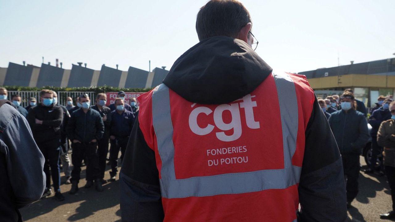 Manifestation du personnel des Fonderies du Poitou en avril dernier à Ingrandes.
