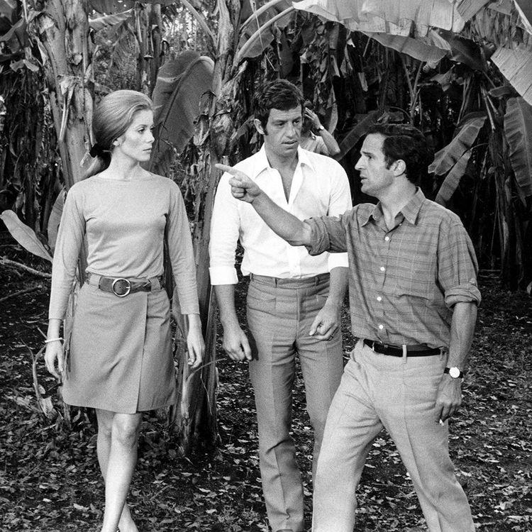 Avec Catherine Deneuve et François Truffaut, sur le tournage de « La Sirène du Mississipi », en 1969.