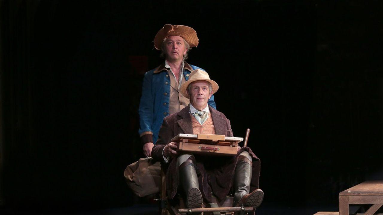 Jacques (Nicolas Briançon) et son maître (Stéphane Hillel) dans leur voyage sans fin.