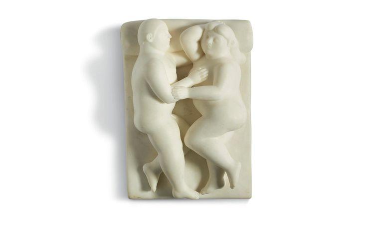 « Couple », sculpture de Fernando Botero, réalisée dans les année 1990. Cette oeuvre est estimée entre 200.000 et 400.000 euros.