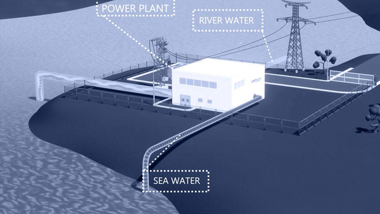 Maquette numérique du démonstrateur de Sweetch Energy qui fonctionnera en conditions réelles d'ici à la fin 2023.