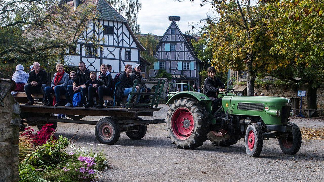 Le parc recrée sur 97 hectares un village alsacien du début du siècle dernier.