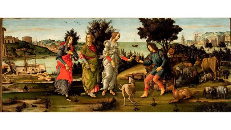 Botticelli et atelier, « Le Jugement de Pâris », vers 1482-1485.