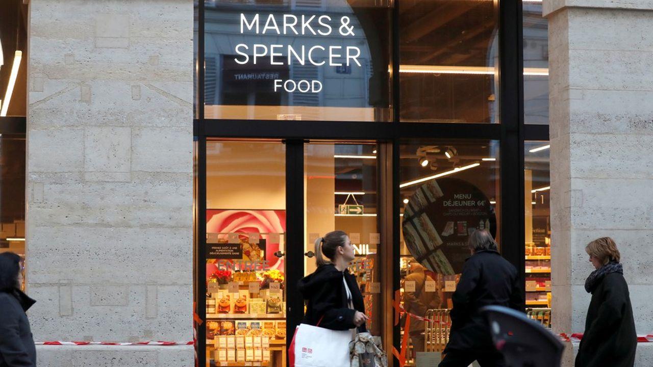 Un magasin Marks & Spencer à Paris.