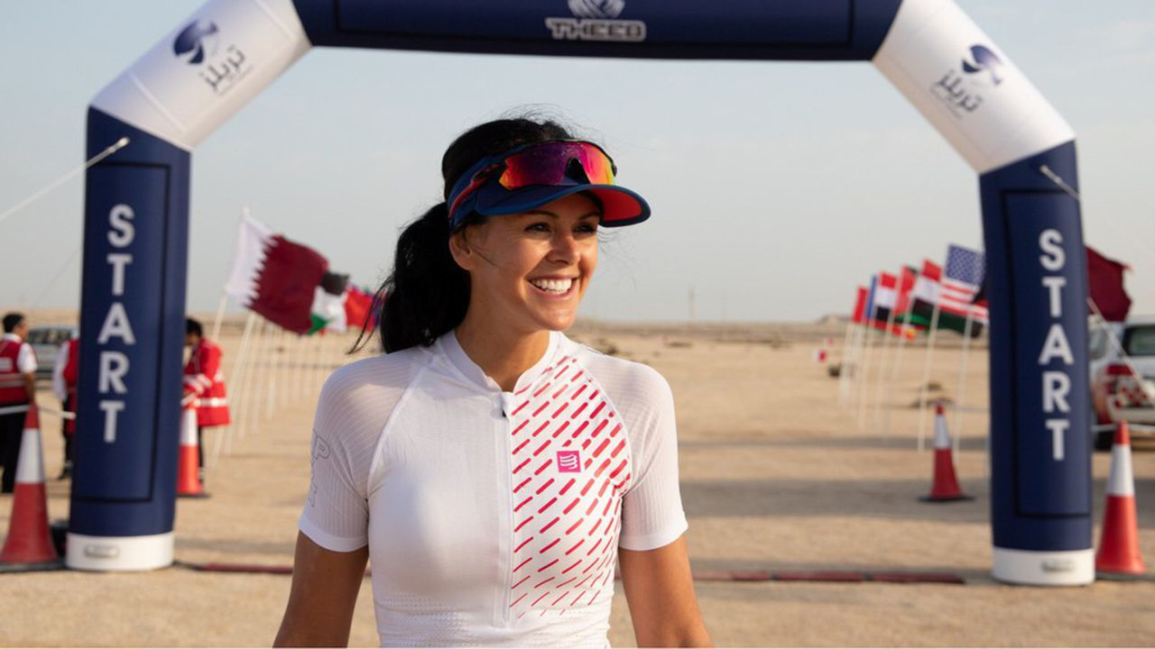 Perrine Fages vite depuis six ans au Moyen-Orient, un paysage propice pour ses défis sportifs.
