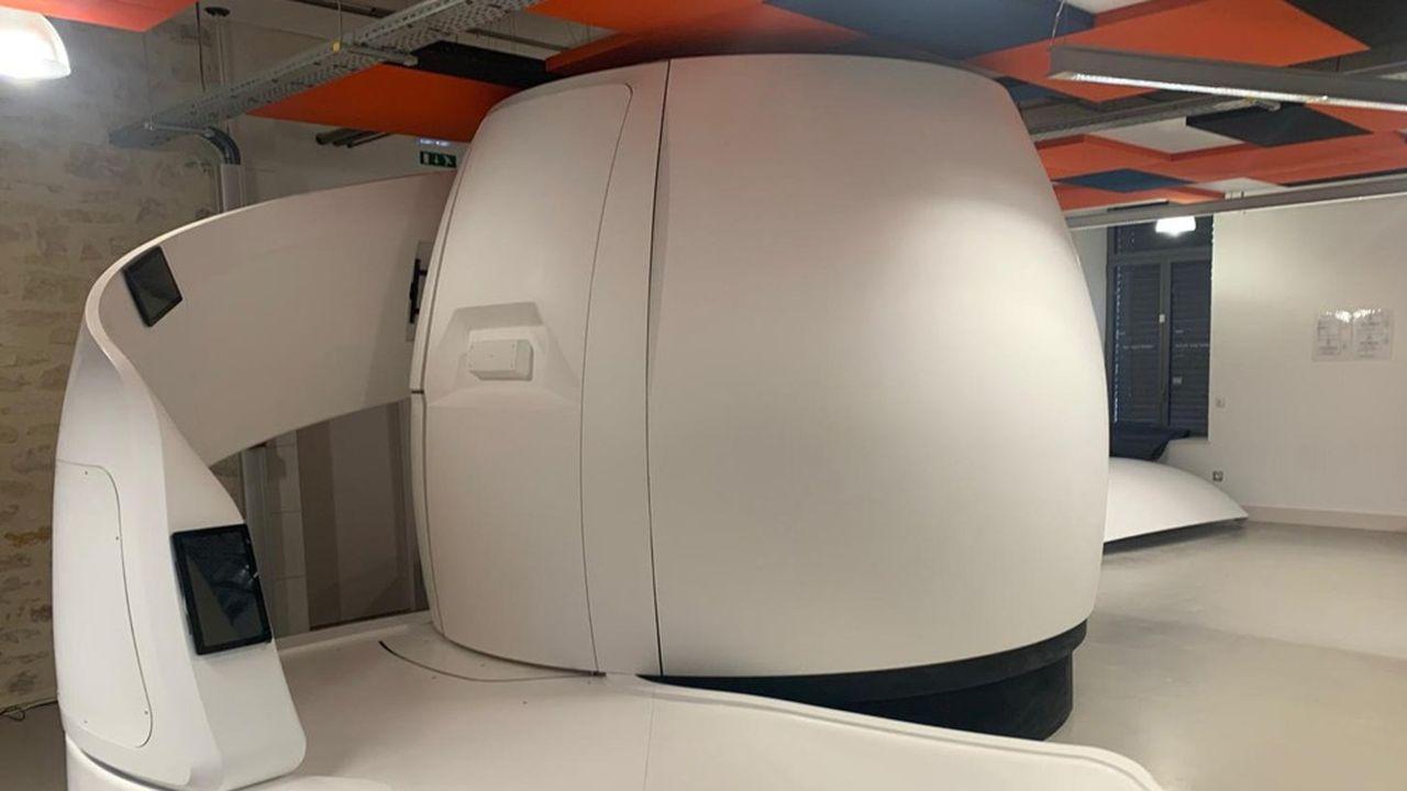 Le premier exemplaire de la capsule Voyager, réalisé pour l'Expo universelle de Dubaï.