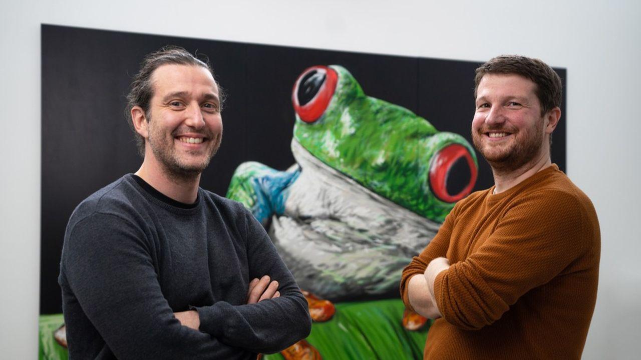 Kévin Alessandri (à gauche) et Maxime Feyeux, tous deux fondateurs TreeFrog, se sont rencontrés en 2013, en Suisse.
