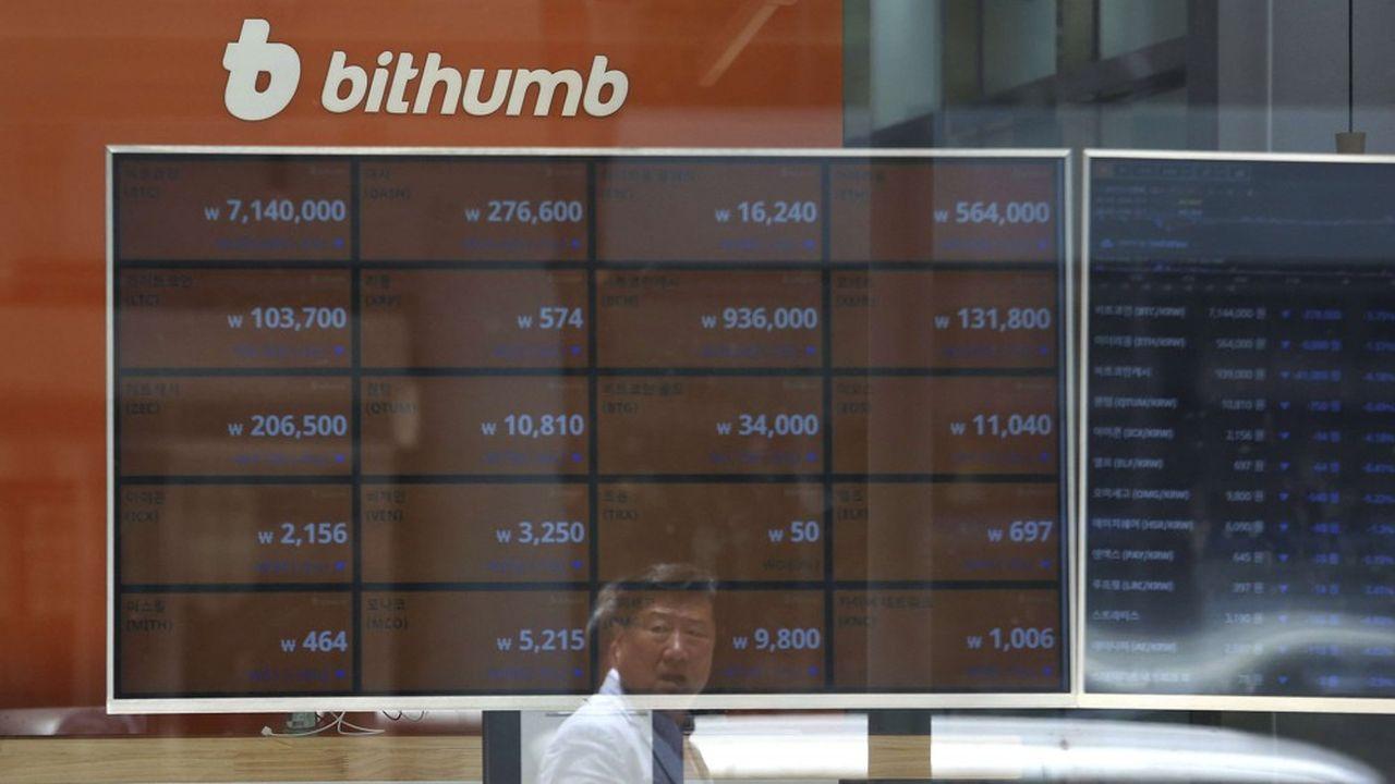 Le marché sud-coréen des cryptos est partagé à 90% par quatre plateformes: Upbit (la plus grosse), Bithumb, Korbit et Coinone.