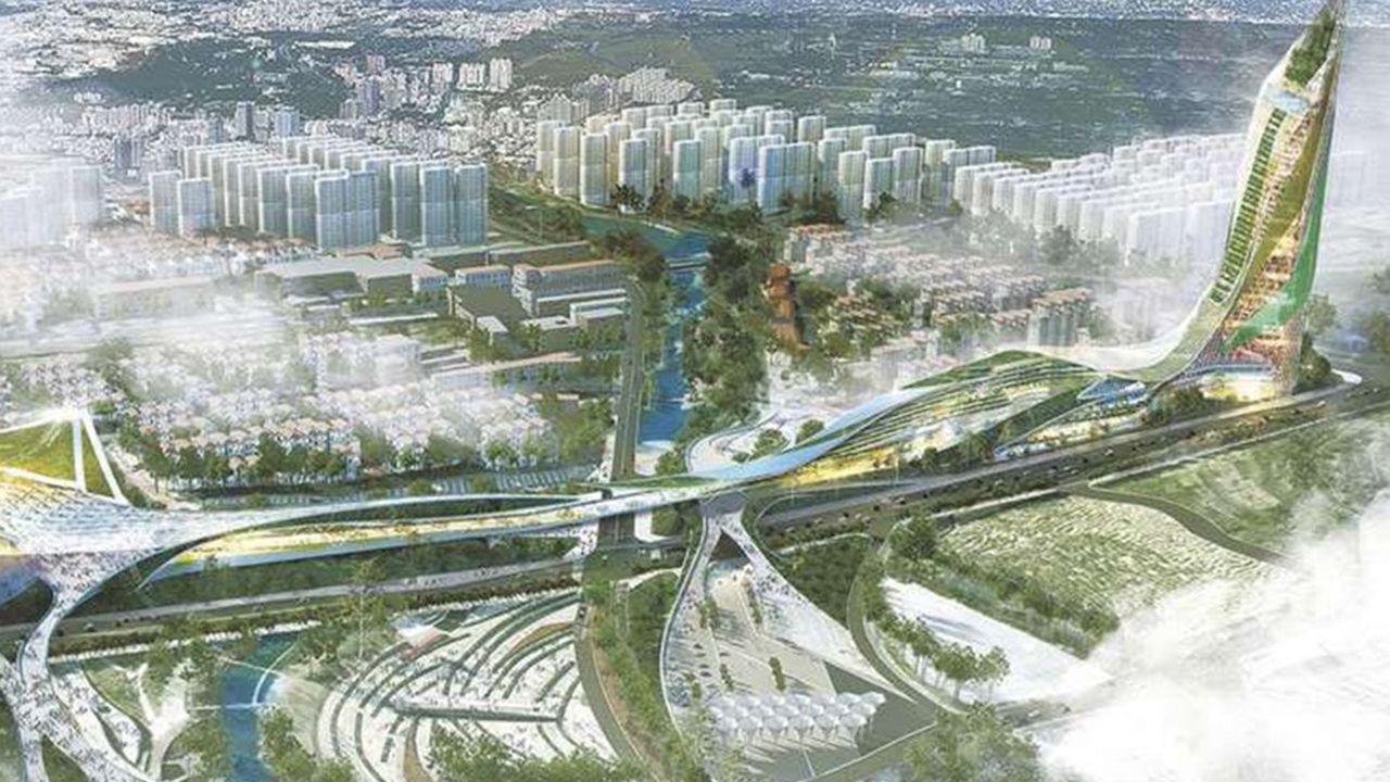 La Cité mondiale du Parc des Académies gagnées par Jacques Rougerie Architectes. Associés