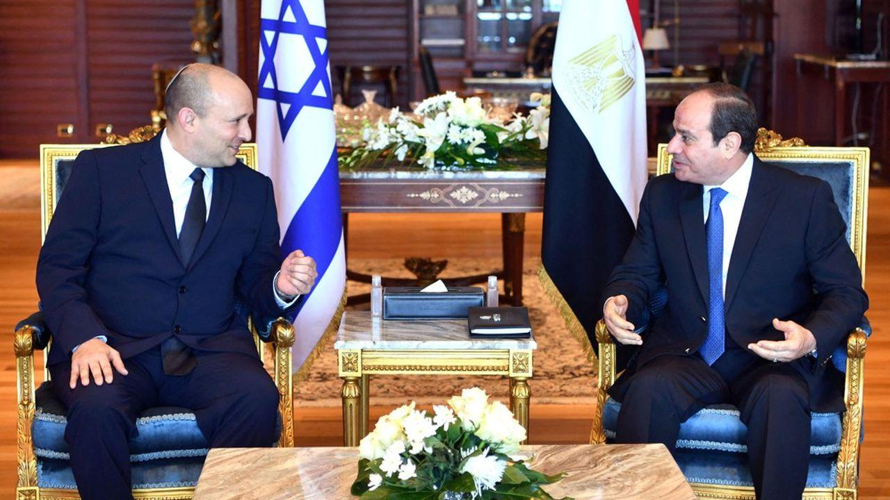 Le Premier ministre israélien, Naftali Bennett, s'est entretenu avec le président égyptien, Abdel Fattah Al Sissi, à Charm el-Cheikh, au bord de la mer Rouge.