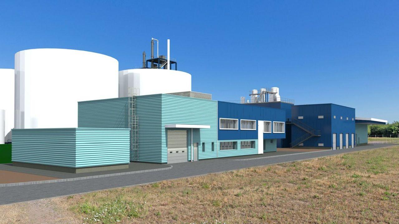 La première usine d'Afyren est en cours de construction à Carling Saint-Avold en Moselle.