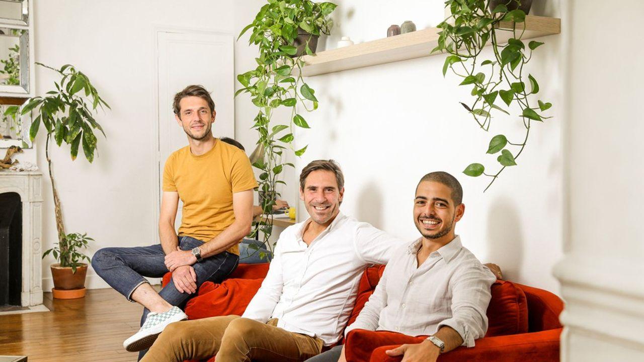Jean-Yves Poilleux (CTO), Thibaud Elzière (CEO) et Simo Lemhandez (COO) ont cocréé Folk.
