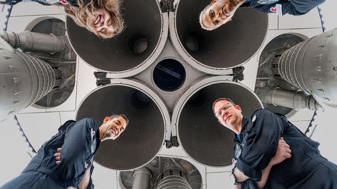 La mission «Inspiration4» doit envoyer dans l'espace Hayley Arceneaux, Sian Proctor, Chris Sembroski et Jared Isaacman, quatre novices.