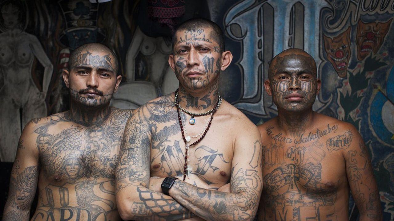 Les membres des gangs dits Mara, ici dans une prison du Salvador, sont parmi les plus violents d'Amérique latine.C