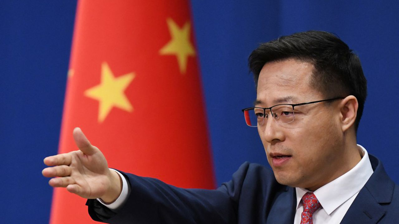 Le porte-parole du ministère des Affaires étrangères chinois, Zhao Lijian, juge que l'alliance AUKUS «compromet gravement la paix et la stabilité régionales»
