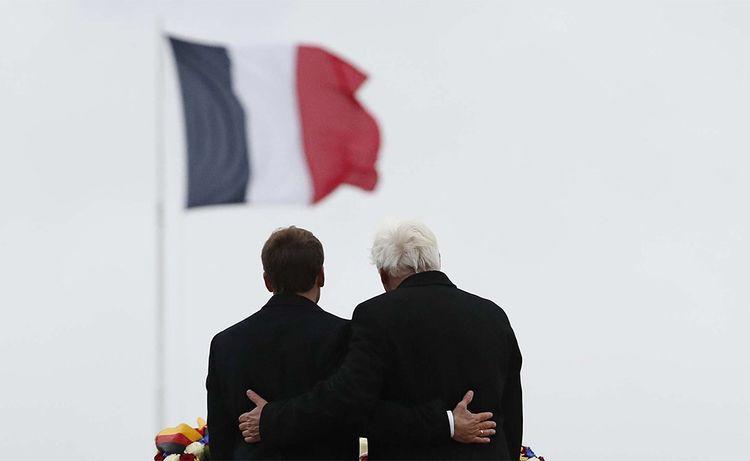 Emmanuel Macron et Walter Steinmeier.