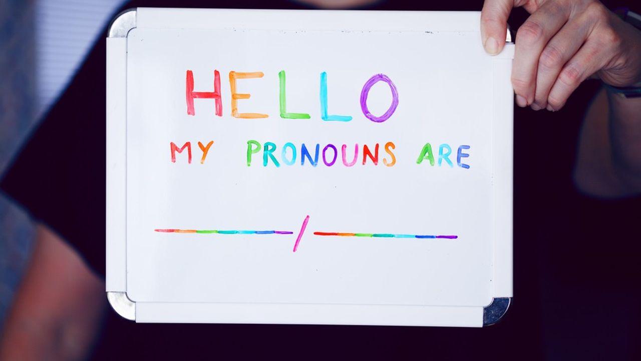 Les «preferred pronouns» (pronoms que l'on choisit, en français) permettent d'exprimer le genre auquel chacun s'identifie (she/her, he/him, they/them,etc.). Certains salariés n'hésitent pas à le mettre sur leur page LinkedIn ou en signature de mail.