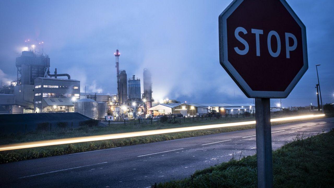 Usine Yara à Montoir-de-Bretagne (Loire-Atlantique). Pour les entreprises les plus consommatrices, l'électricité représente un peu plus de 20% du prix de revient de leurs produits.