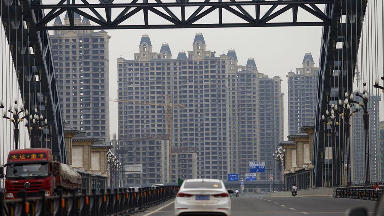 L'immobilier (ici, le complexe résidentiel «Evergrande Oasis») représente jusqu'à 30% de la croissance chinoise.