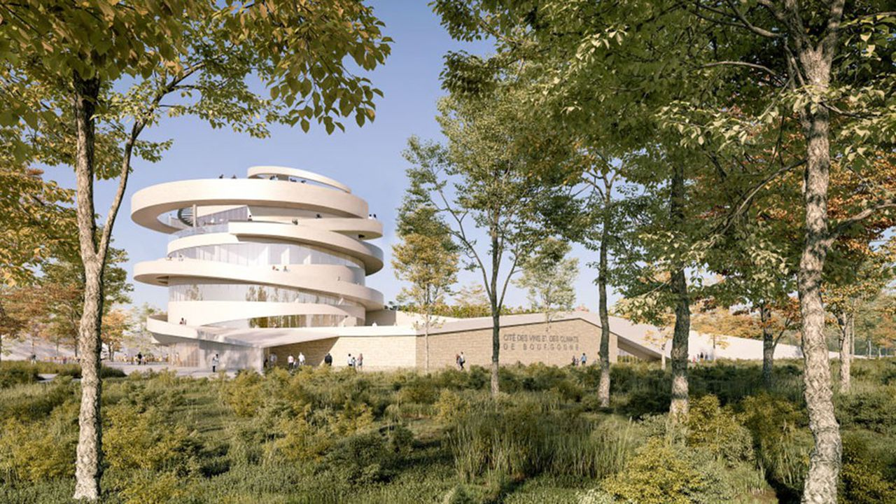 Signé par l'architecte Emmanuelle Andreani, le bâtiment de Beaune dessinera une vrille, rappelant celle de la vigne autour du palissage.