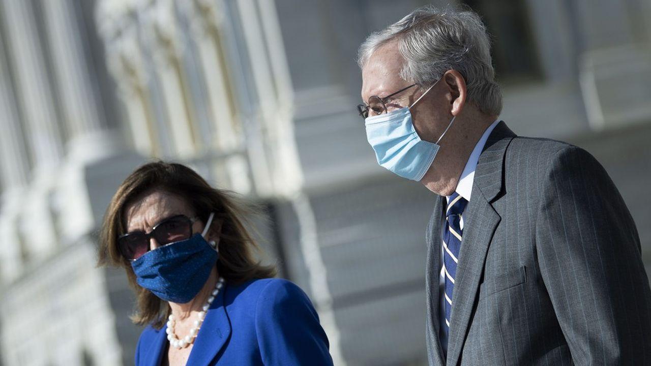 La cheffe de la majorité démocrate à la Chambre, Nancy Pelosi, et le chef de la minorité républicaine au Sénat, Mitch McConnell, ont déjà en tête les élections de mi-mandat de novembre2022.