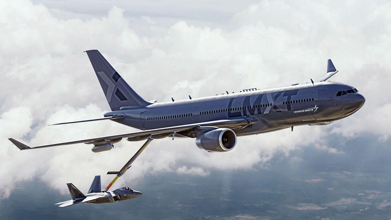 Le projet d'avion-ravitailleur présenté par Lockheed Martin est basé sur un Airbus A330.