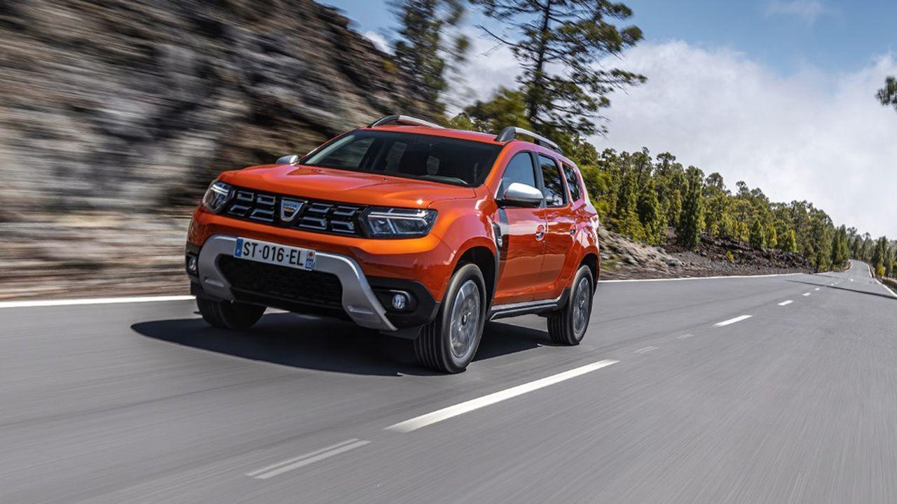 Dans le barème 2022, la version essence du nouveau Dacia Duster sera frappée d'un malus de 330euros, soit 100euros de plus que 2021.