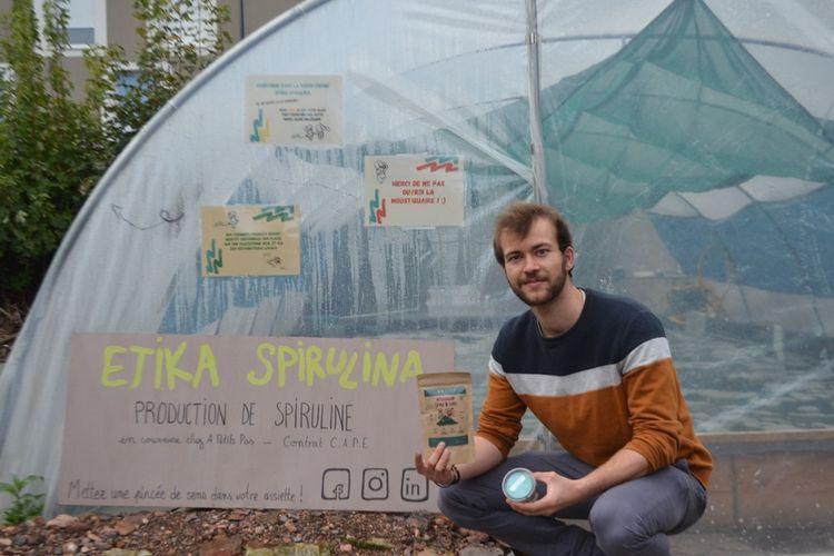 Xavier Delannoy, le fondateur d'Etika Spirulina, une ferme urbaine dédiée à la spiruline et sortie de terre à Villeneuve-d'Ascq fin 2020