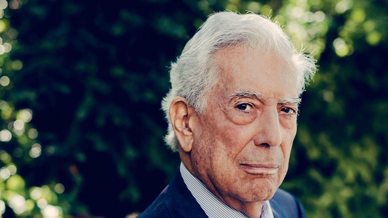 L'écrivain Mario Vargas Llosa photographié le 7septembre 2021 chez Gallimard.