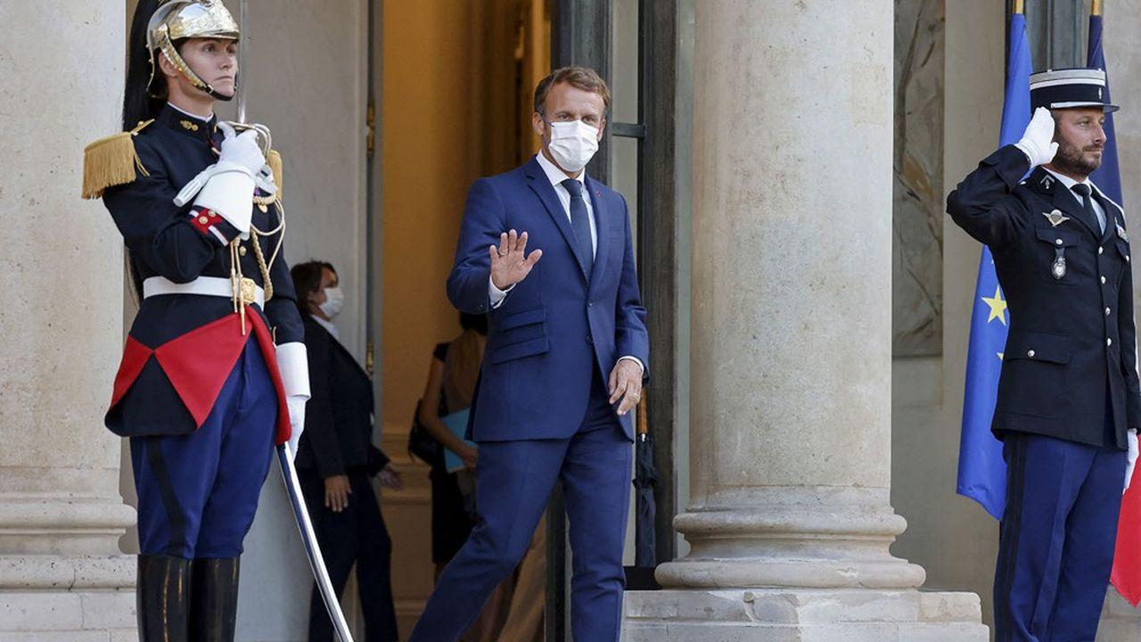 Le président de la République, Emmanuel Macron, au palais de l'Elysée, le 31août 2021.
