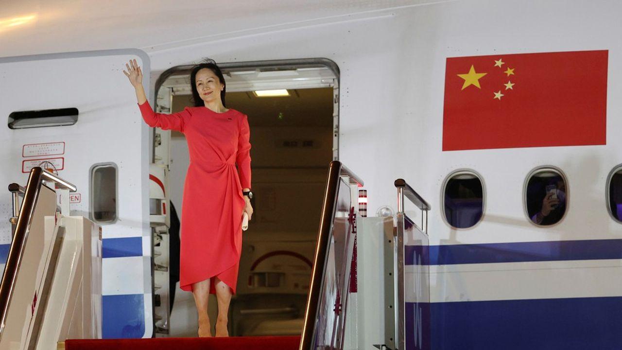 Meng Wanzhou a fait son retour en Chine devant les caméras de télévision.