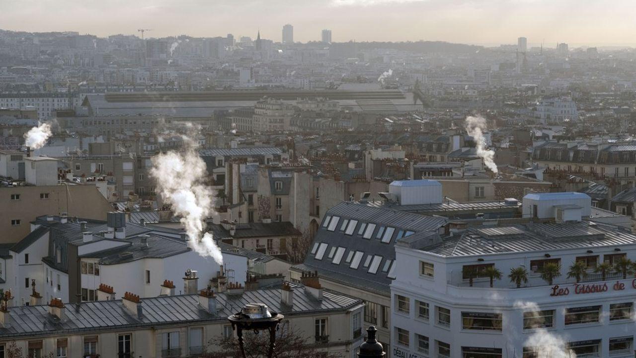 Des émissions de CO2 liées au chauffage urbain, à Paris.