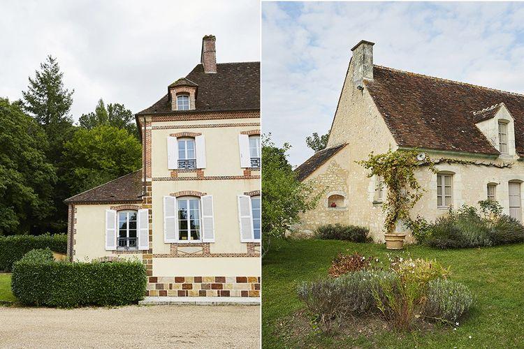 Deux maisons vendues récemment par Yves de Bont à des Parisiens. A gauche, une maison de maître des forges à Rémalard. A droite, une ferme du XVIIesiècle.