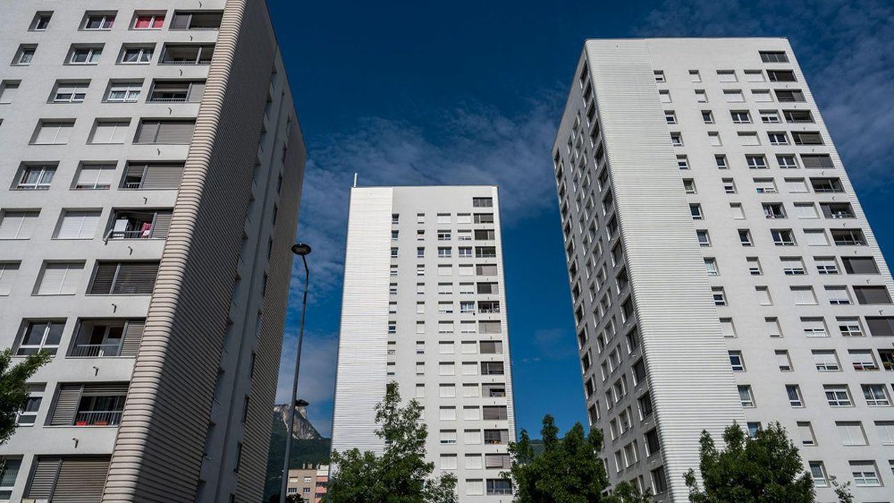 Des immeubles de logement dans le quartier Mistral à Grenoble.