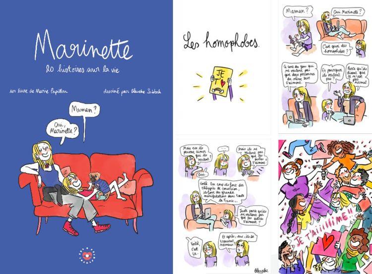 «J'ai naturellement fait appel à Blanche Sabbah, illustratrice engagée et pédagogue dont je suivais le travail sur les réseaux sociaux. Elle a su mettre en lumière Marinette exactement comme je l'imaginais.»