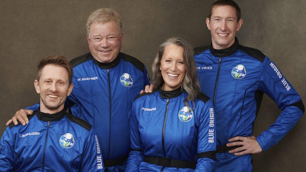 De par son âge et son passé, William Shatner vole la vedette aux trois autres membres à bord de Blue Origin ce mercredi.