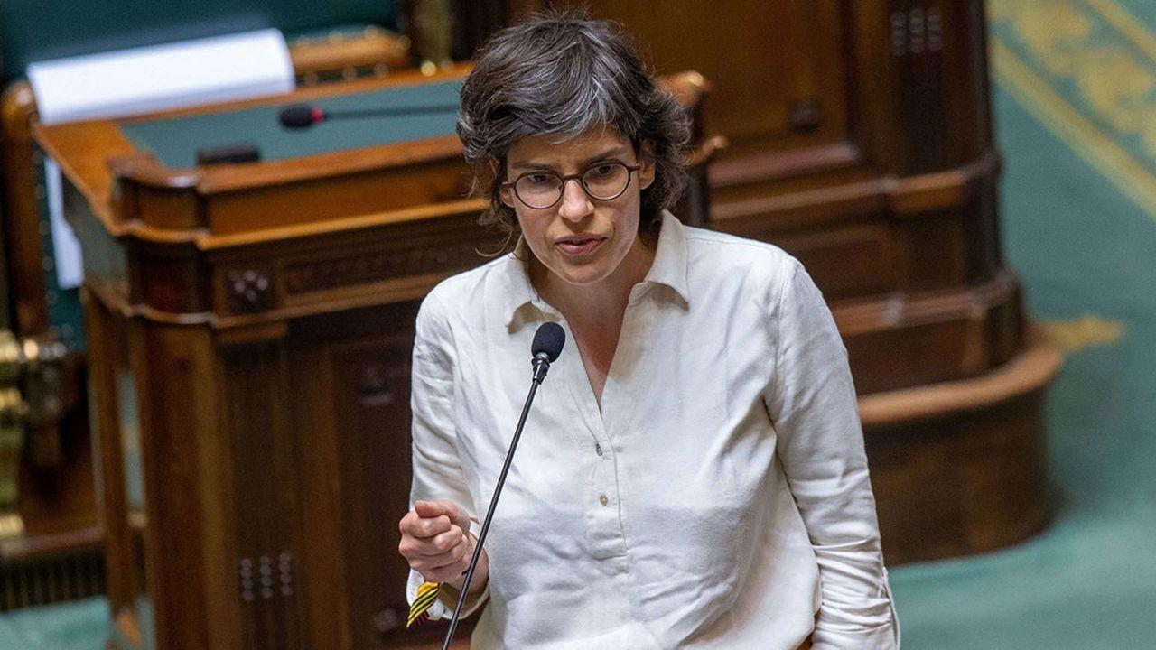 La ministre de l'Energie écologiste, Tinne Van der Straeten, à la Chambre, en juillet2021