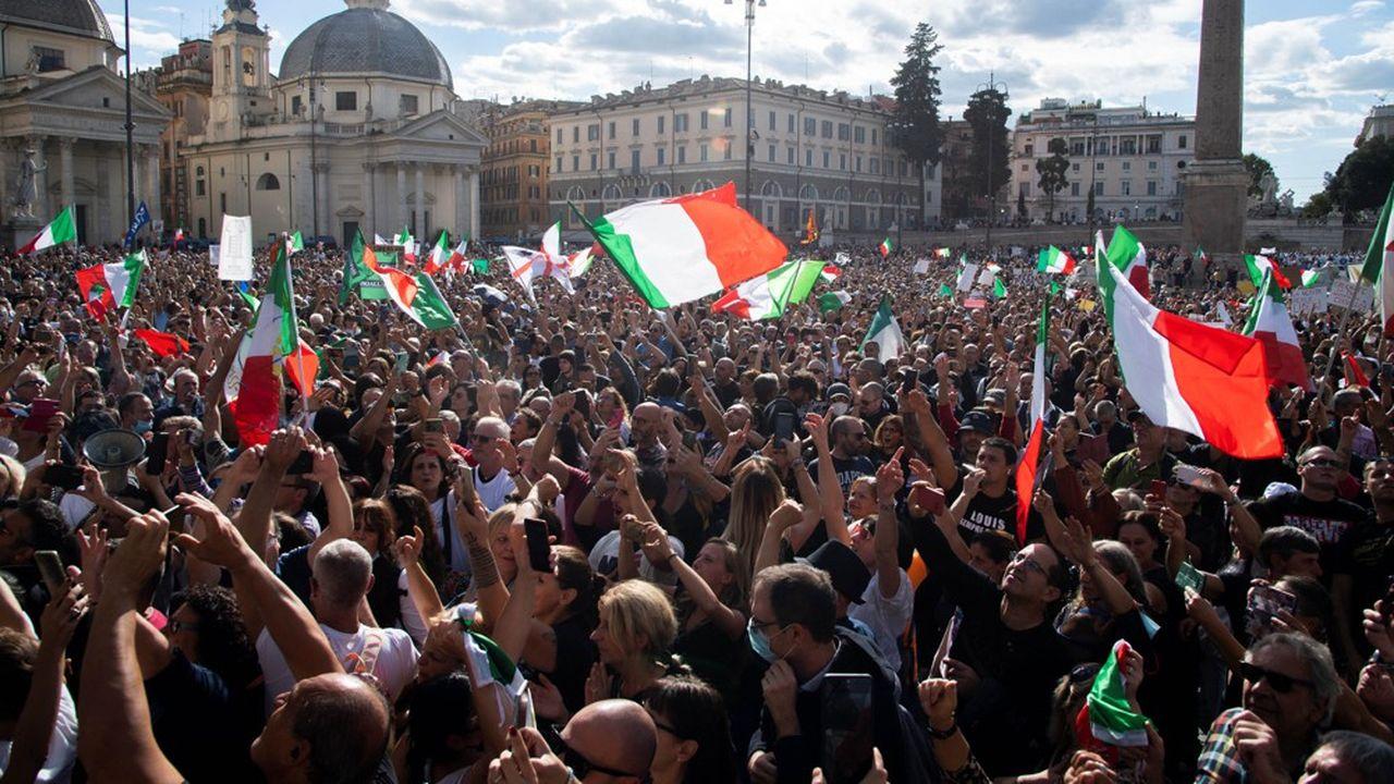 Manifestation à Rome le 9octobre contre le passe sanitaire.
