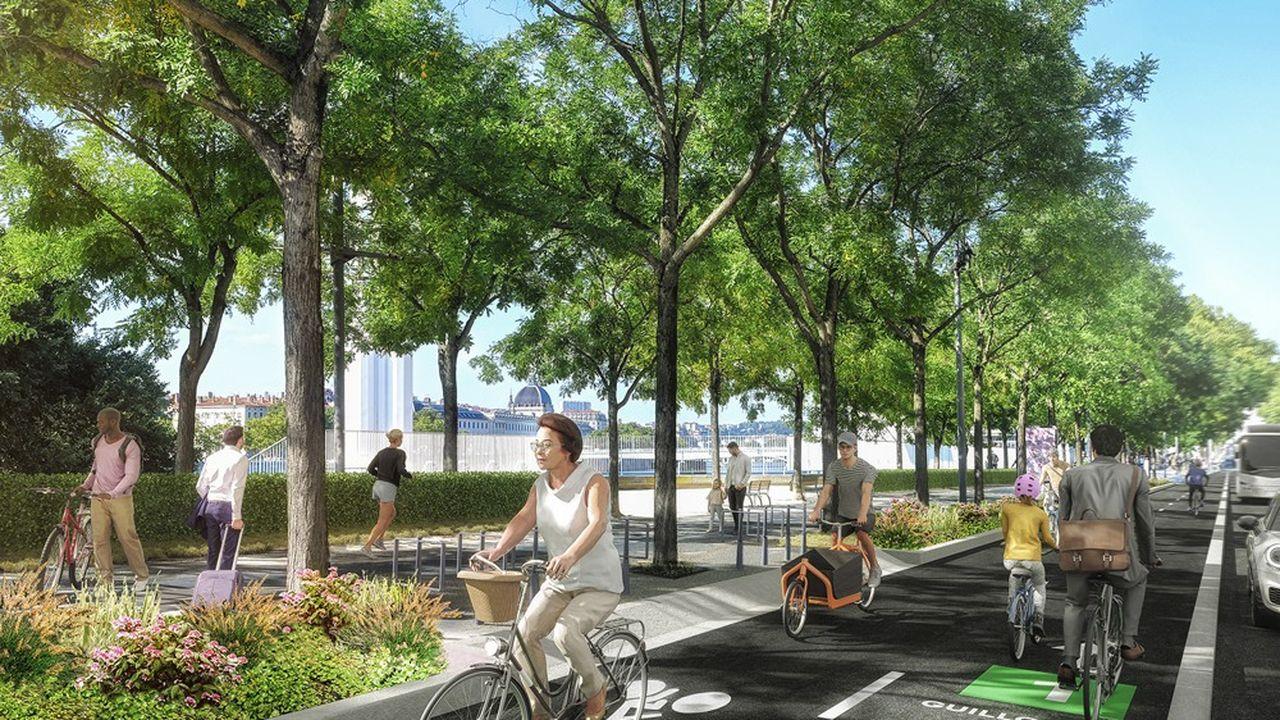 En 2026, le réseau vélo des Voies Lyonnaises comptera 250 kilomètres.