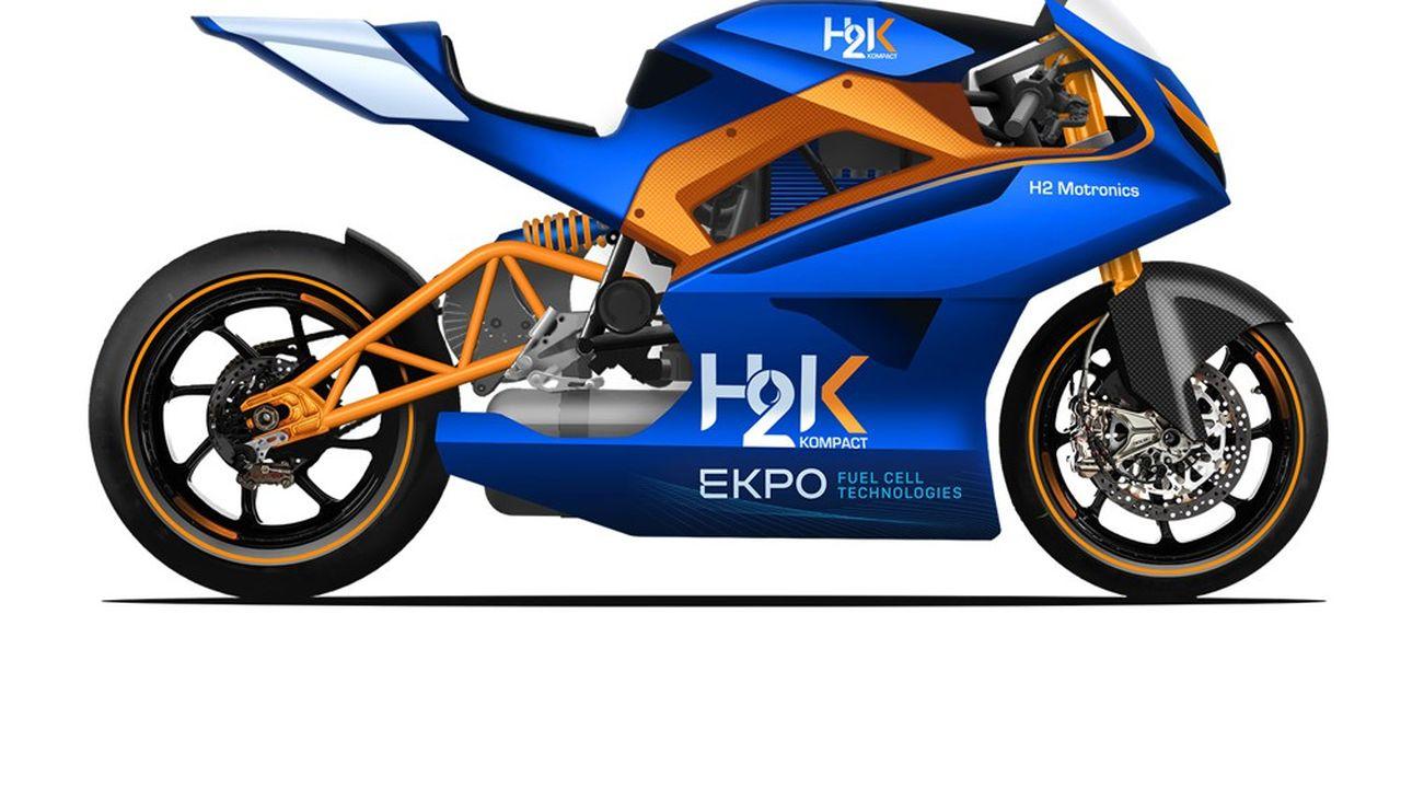 H2 Motronics peaufine sa moto de course à hydrogène